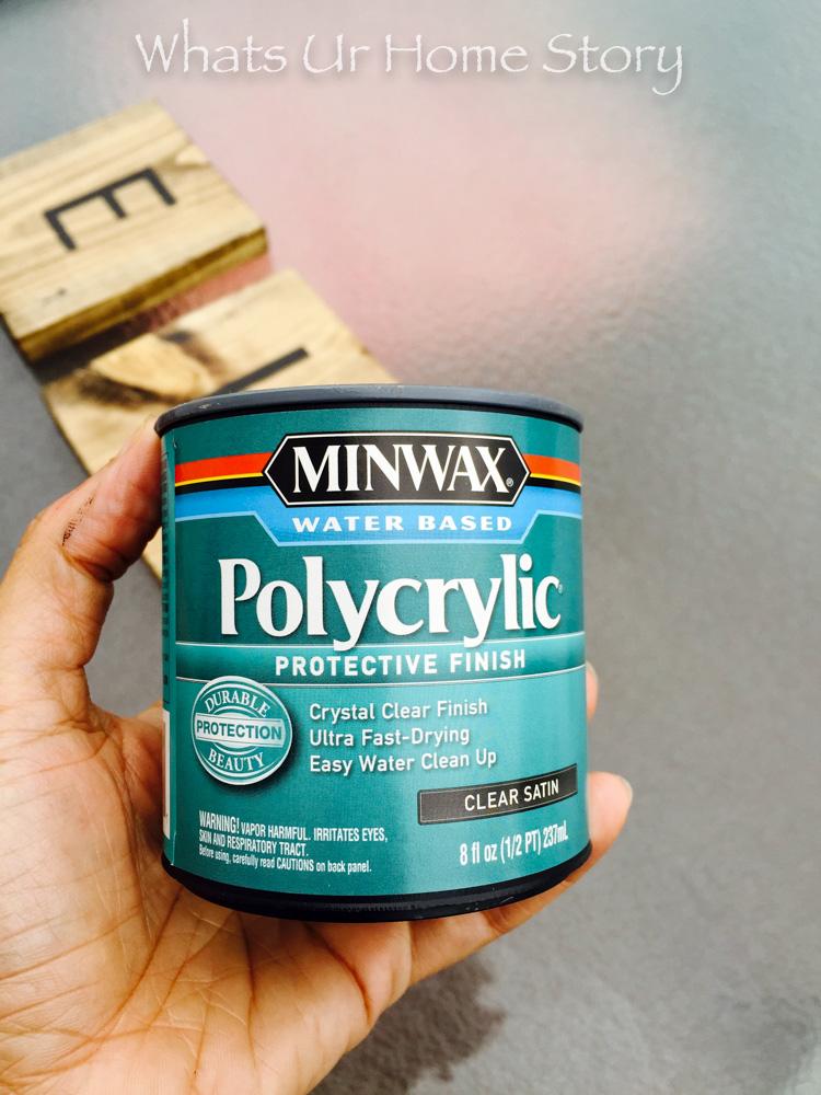 Water based polycrylic finish-