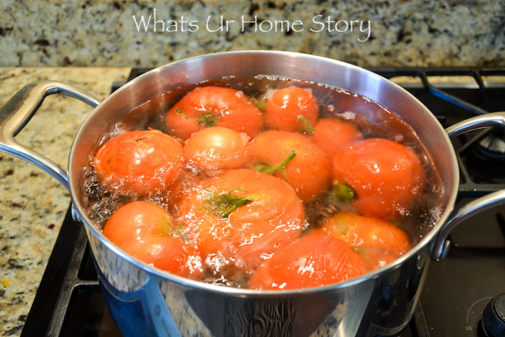blanching tomatoes for freezing