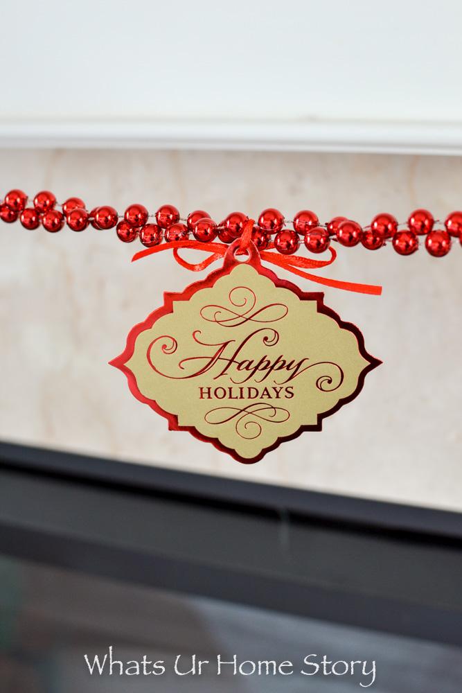 Easiest Christmas Garland ever with Hallmark gift tags