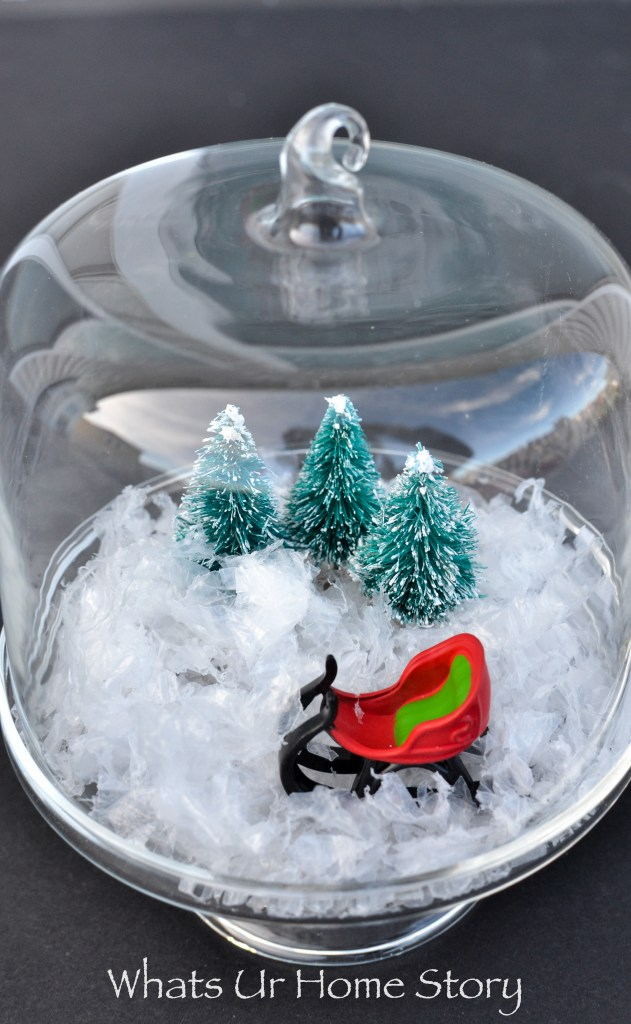 2 Minute Holiday Project! Mini Christmas Cloche