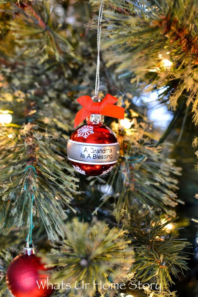 Grandma Christmas Tree Ornament