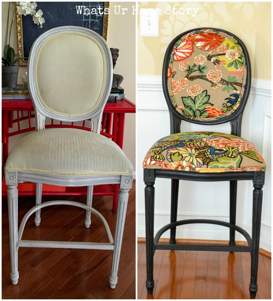 DIY Bar Stool Makeover with paint
