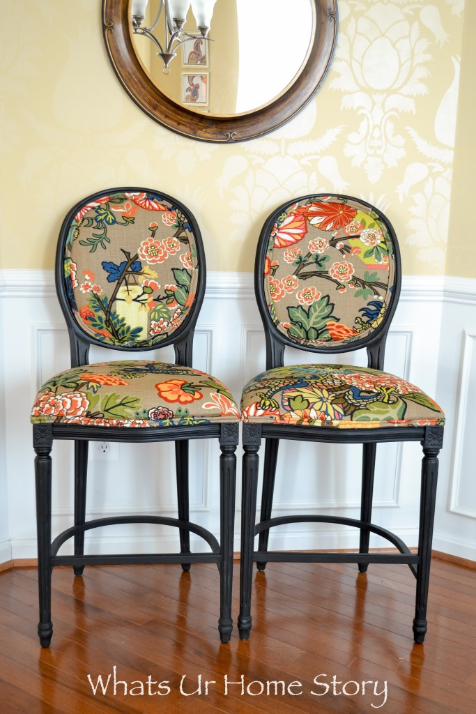 How to give new look to old fabric bar stools whats ur for T furniture chiang mai
