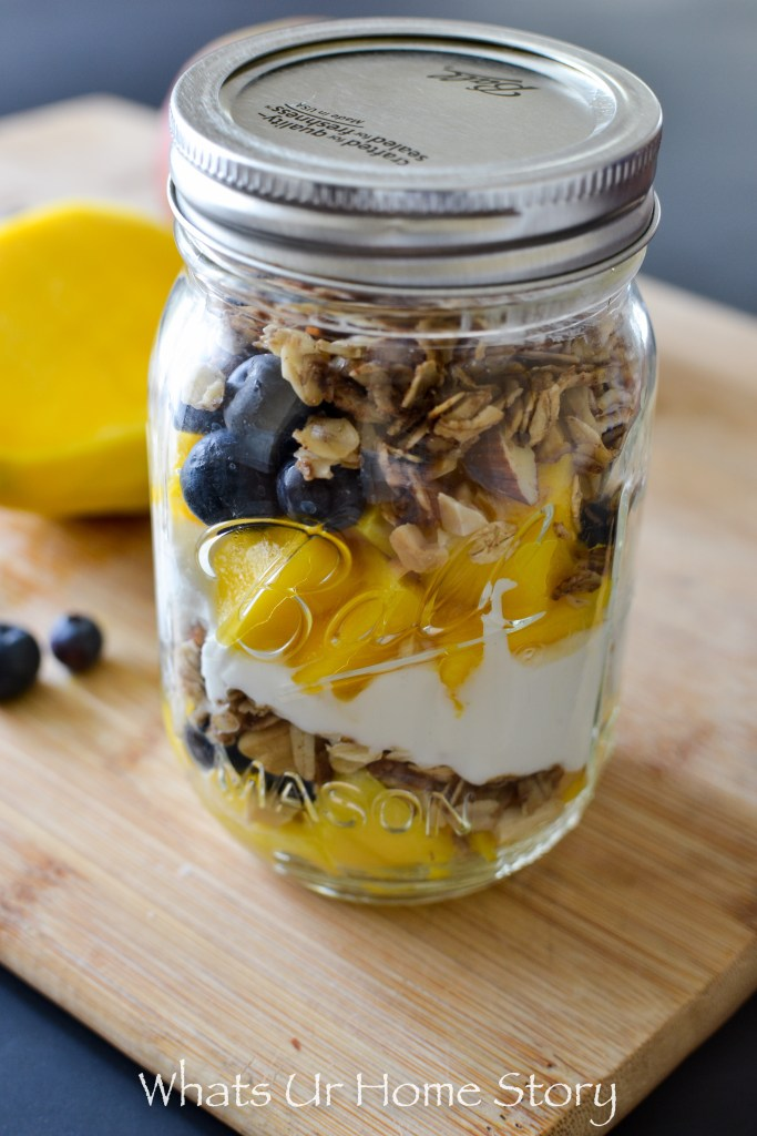 Healthy breakfast just got easy with this delicious Blueberry Mango Yogurt Parfait
