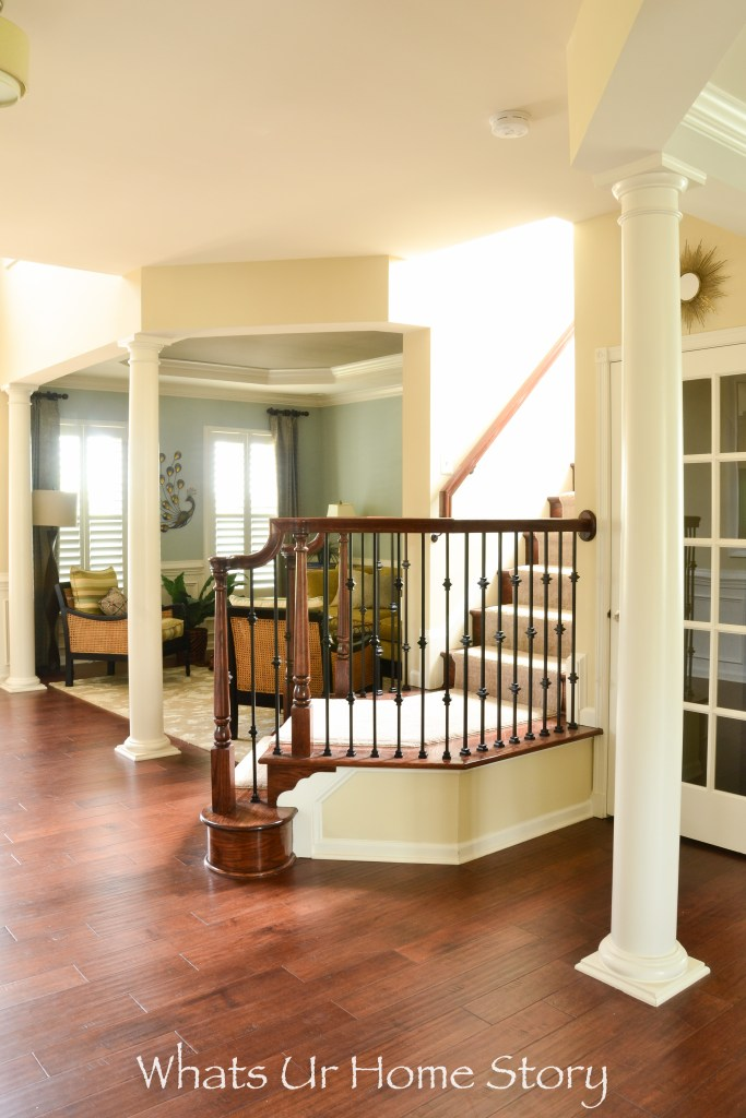 Toll Brothers model home stairs