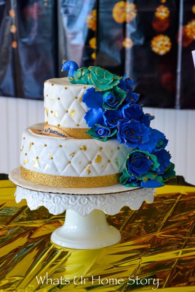 Peacock wedding cake - Peacock birthday cake