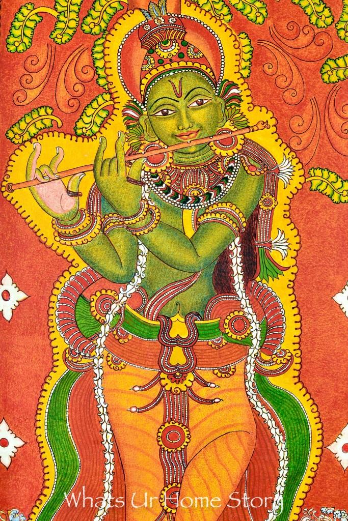 kerala-mural-painting-of-krishna