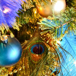 blue-and-green-christmas-tree-in-peacock-theme
