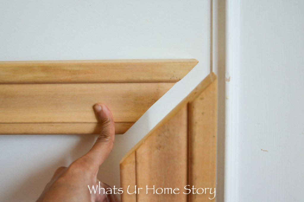 45 degree cut on molding - how to make a DIY picture frame molding