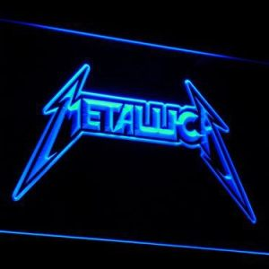Metallica neon light sign