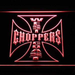 West Coast Choppers neon light sign