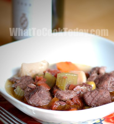 CHIANTI MARINATED BEEF STEW