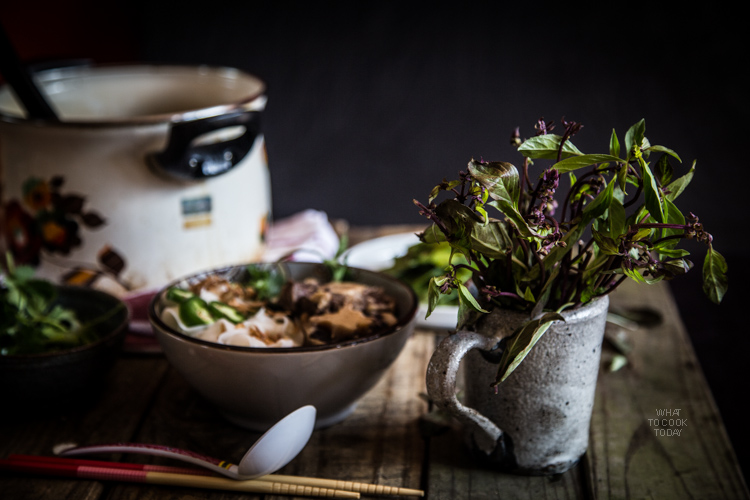 Slow-cooked oxtail noodle soup