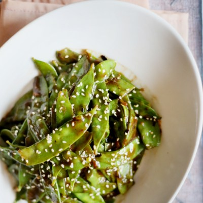 EASY STIR-FRIED SNAP PEAS
