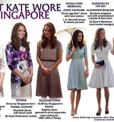 Royal Tour 2012: Singapore Fashion Recap