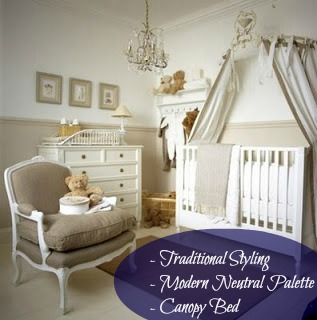 If I close my eyes and picture a royal baby nursery, it probably would look pretty close to that. We think they'd enjoy the traditional styling while appreciating the modern palette
