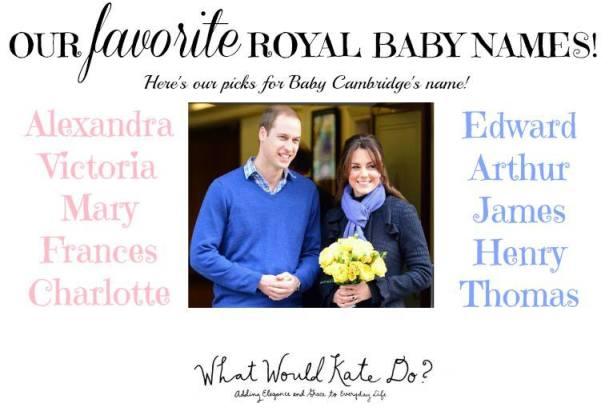 royal baby names cambridge