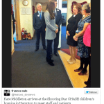 Kate visits Shooting Star House Children's Hospice