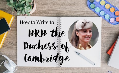 How to Write to HRH the Duchess of Cambridge