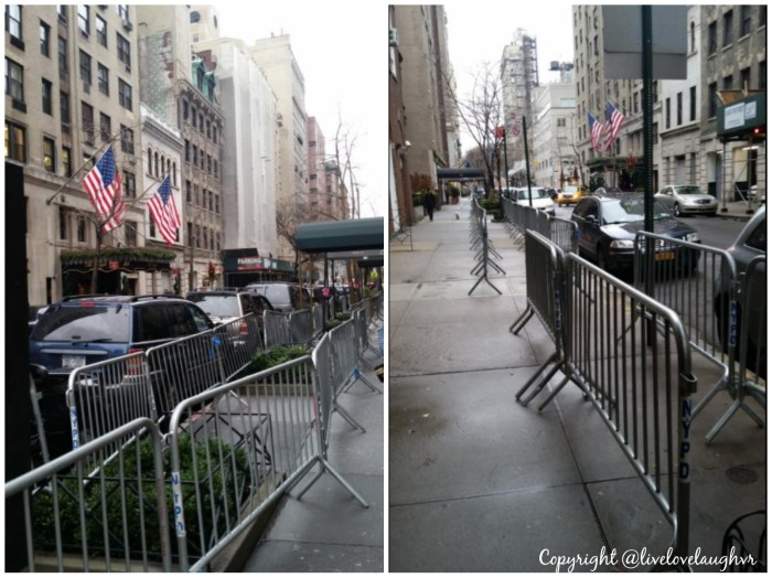 Carlyle Hotel NYC Barricades William and Kate