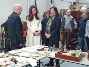 The Duchess of Cambridge visits Downton Abbey