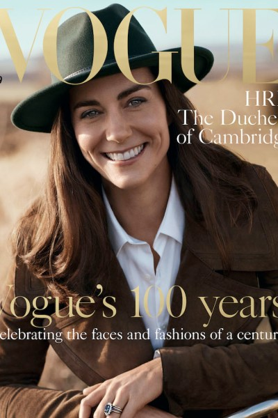 The Duchess of Cambridge Poses for British Vogue's Centenary Issue