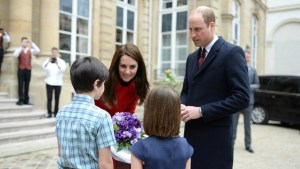 Royal Visit Paris : End of the Visit at the Rugby Game