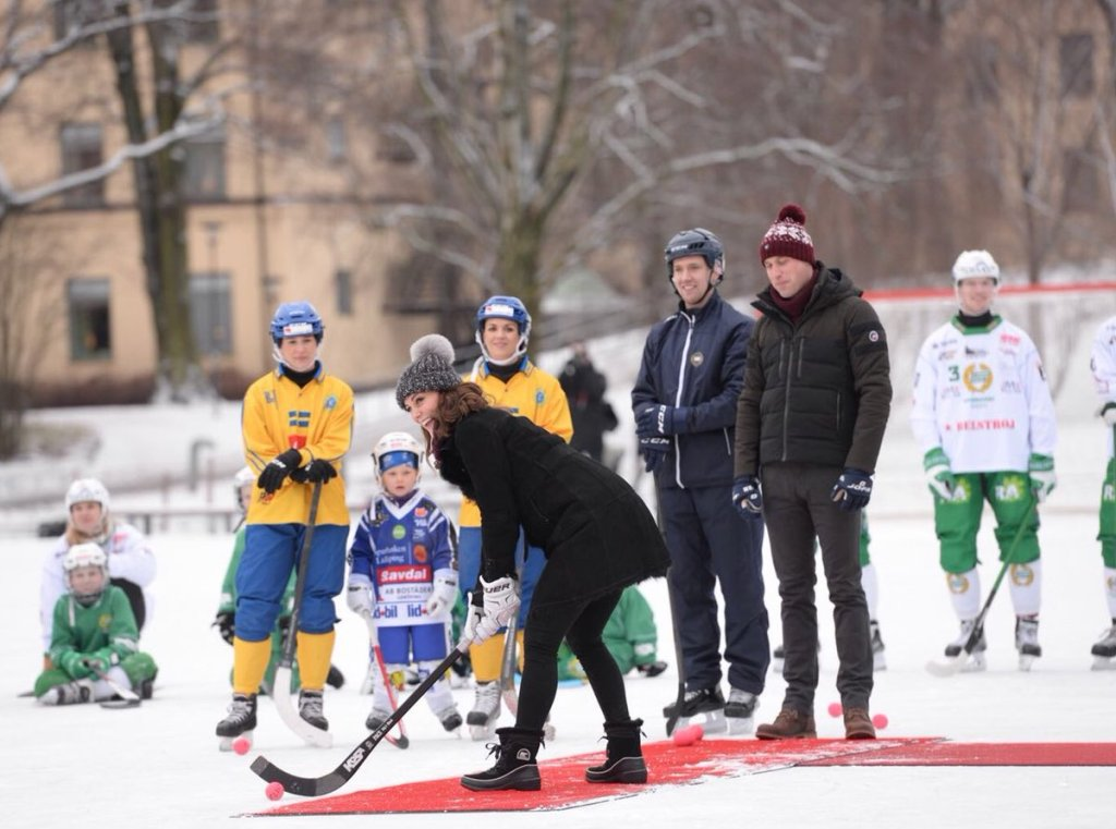 Duchess Cambridge Stockhold Sweden Hockey