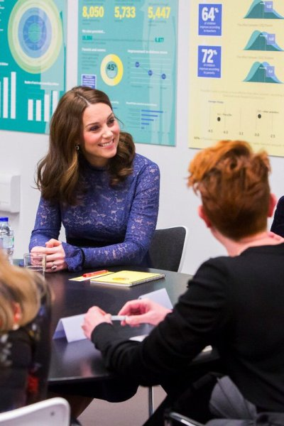 Kate Middleton Seraphine Blue Lace Dress
