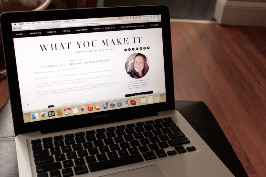 blogging mac book