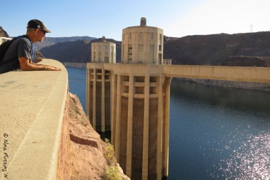 Pal peers over the upper dam