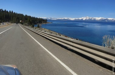 The glorious deep blue of Lake Tahoe