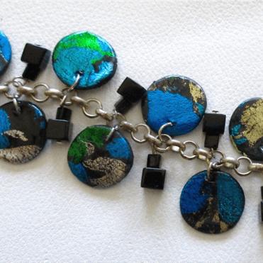 Cindi's Simple Solutions: Foiled Disc Bracelet
