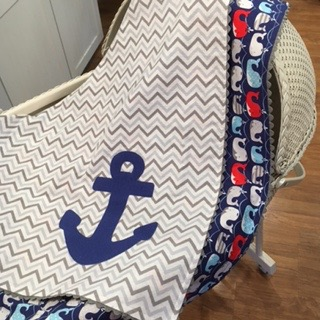 Nautical Nursery: Anchors Away Baby Blanket