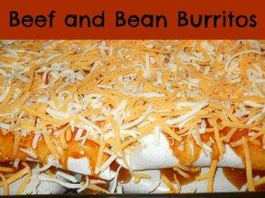 Homemade Beef & Bean Burritos