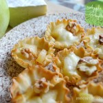 easy apple and brie cups