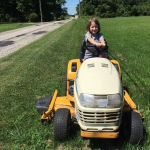 Harper on mower