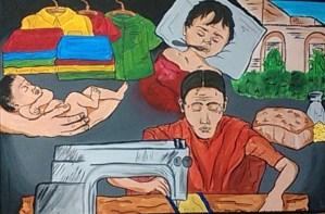 Toni Agee painting APSU (1)