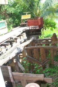 The first bridge was a low level wood bridge later removed after the primary bridge was built.