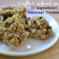 AFTER SCHOOL SNACK: {2 INGREDIENT} OATMEAL COOKIES