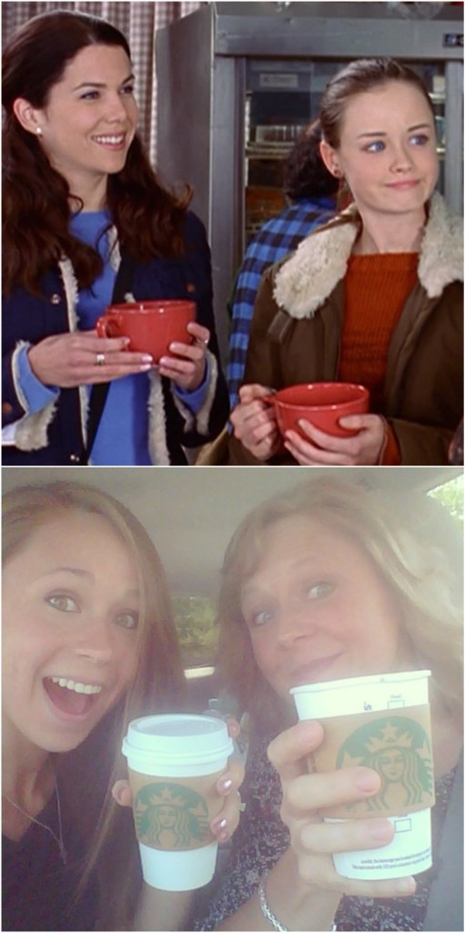 Lorelai and Rory, Mom and Me -- coffee-addicts galore