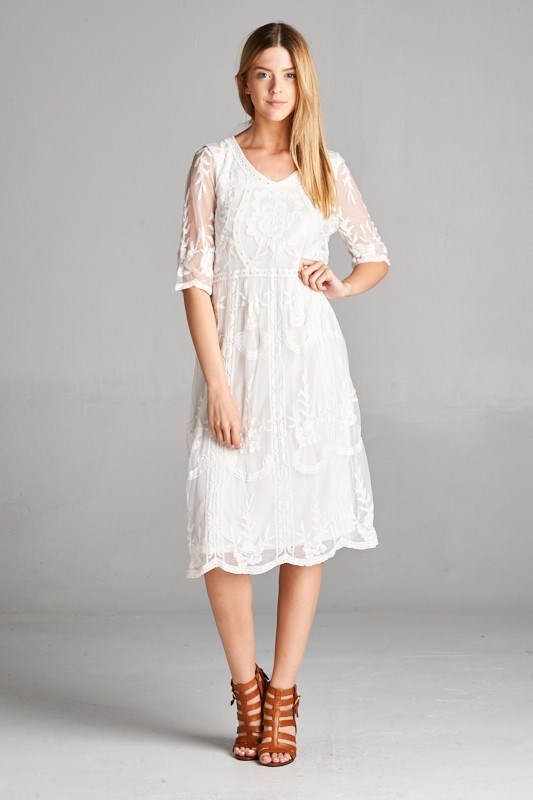 Beautiful lace dress on sale from Jane for $34.99