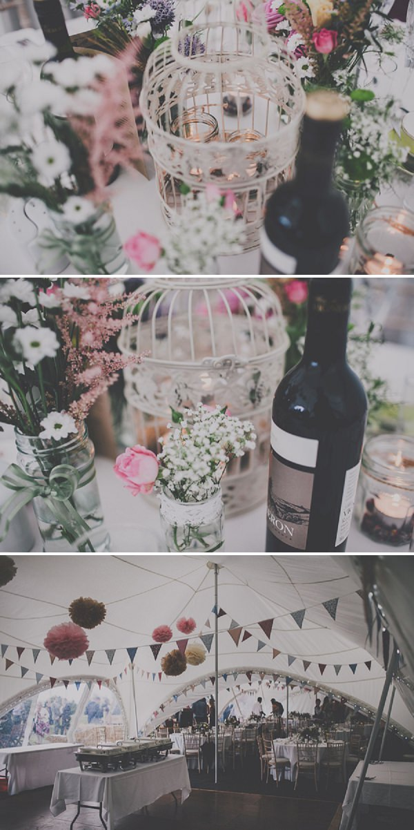 DIY marquee wedding