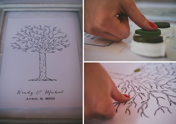 thumb print tree guest wedding