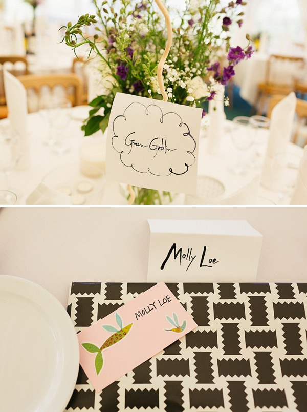 modern place setting illustrated