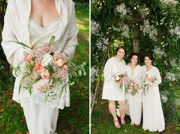 blush bouquet wedding