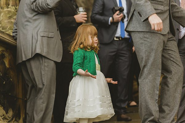 flower girl knitted emerald cardigan
