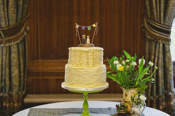 rustic quirky wedding cake