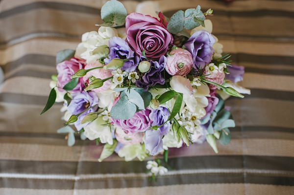 Coolwater Rose Lisianthus Wax Flower Ranunculus & Anenome Bouquet