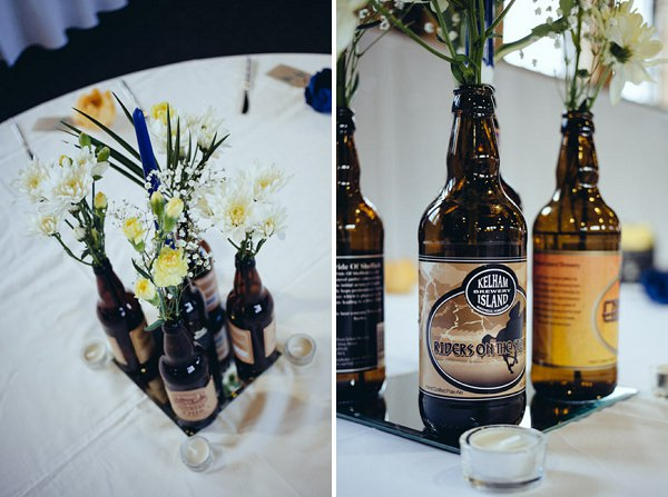 beer bottles wedding